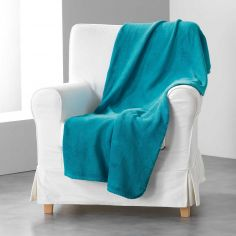 Louna Plain Soft Throw - Blue Lagoon