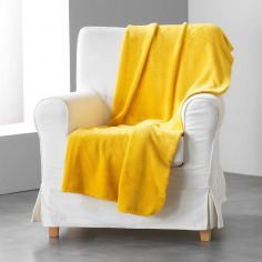 Louna Plain Soft Throw - Yellow