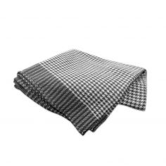 Dog Tooth 100% Cotton Throw - Silver Grey