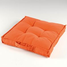 Paolo Plain 100% Cotton Floor Chair Booster Cushion - Orange