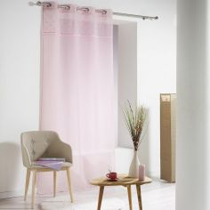 Confettis Pom Pom Eyelet Voile Curtain Panel - Pink