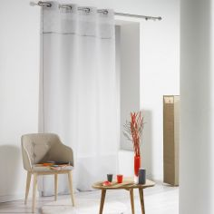 Confettis Pom Pom Eyelet Voile Curtain Panel - Grey