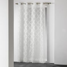 Mood Geometric Eyelet Voile Curtain Panel - Cream