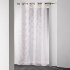 Mood Geometric Eyelet Voile Curtain Panel - Pink