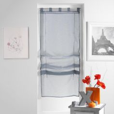Lissea Plain Tie Up Voile Blind with Tab Top - Grey