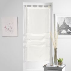 Lissea Plain Tie Up Voile Blind with Tab Top - Cream
