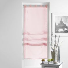 Lissea Plain Tie Up Voile Blind with Tab Top - Pink