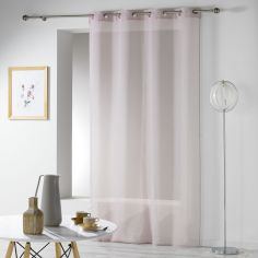 Telma Crushed Look Eyelet Voile Curtain Panel - Taupe
