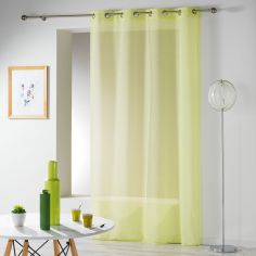 Telma Crushed Look Eyelet Voile Curtain Panel - Lime Green