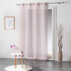 Soledad Circle Voile Curtain Panel with Eyelets - Pink