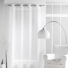 Paloma Eyelet Voile Curtain Panel with Crushed Look - White
