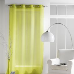 Paloma Eyelet Voile Curtain Panel with Crushed Look - Green