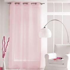 Paloma Eyelet Voile Curtain Panel with Crushed Look - Candy Pink