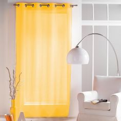 Paloma Eyelet Voile Curtain Panel with Crushed Look - Yellow