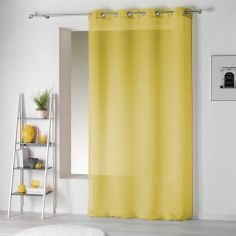 Pointille Striped Eyelet Voile Curtain Panel - Yellow