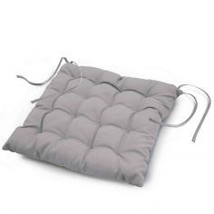 Essentiel Plain Quilted Seat Pad - Silver Grey