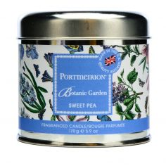Botanic Garden Wax Filled Silver Tin - Sweet Pea