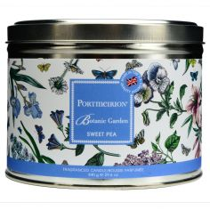 Botanic Garden 3 Wick Waxed Filled Silver Tin - Sweet Pea