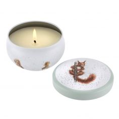 Wrendale Designs Wax Filled Boutique Tin - Treetops Redhead Squirrels