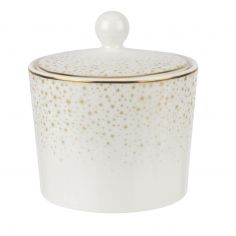 Sara Miller Ceramic 0.28L Covered Sugar Bowl - White & Gold