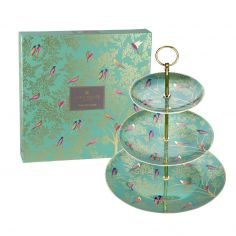 Sara Miller Chelsea Collection 3 Tier Cake Stand - Green