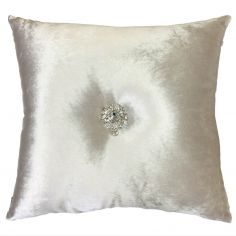 Kylie Minogue Serafina Filled Cushion - Oyster Cream