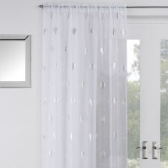 Birch Voile Curtain Panel - White