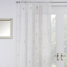 Birch Voile Curtain Panel - Cream