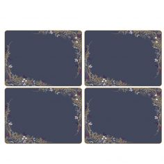 Sara Miller Garland Christmas Set of Four Placemats