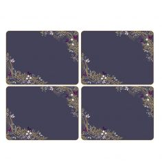 Sara Miller Garland Christmas Set of Four Square Placemats