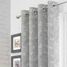 Iona Butterfly Voile Curtain Panel - Silver Grey