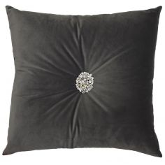 Kylie Minogue Narissa Velvet Filled Cushion - Slate Grey