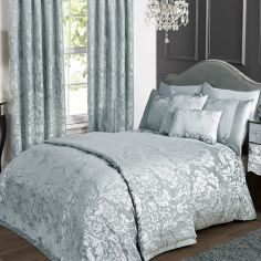 Charleston Jacquard Duvet Cover Set - Duck Egg Blue