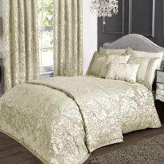 Charleston Jacquard Duvet Cover Set - Cream