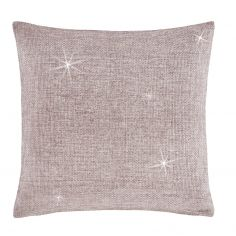 Catherine Lansfield Glamour Weave Cushion Cover - Heather Pink