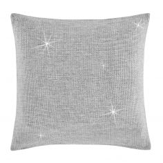 Catherine Lansfield Glamour Weave Cushion Cover - Silver Grey