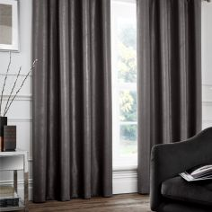 Catherine Lansfield Chelsea Tape Top Curtains - Charcoal Grey