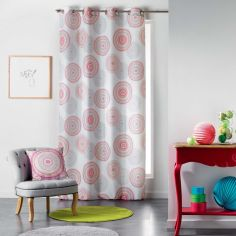 Romana Eyelet Curtain Panel with Circle Print - Multi