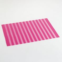 Garden Hemstitched PVC Placemat - Fuchsia Pink