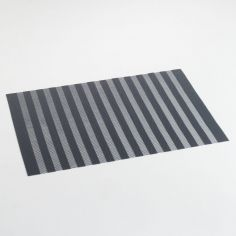 Garden Hemstitched PVC Placemat - Charcoal Grey