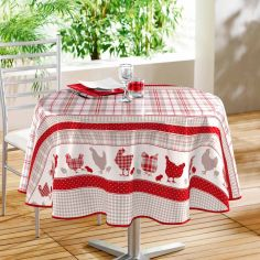 Poussins PVC Tablecloth - Red