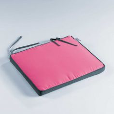 Oasis Two-Tone Waterproof Chair Seat Pad - Raspberry Pink & Charcoal Grey