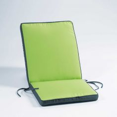 Oasis Two-Tone Waterproof Armchair Cushion Pad - Lime Green & Charcoal Grey
