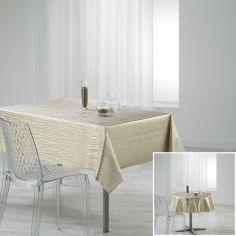 Wavy Metallic Look PVC Tablecloth - Gold