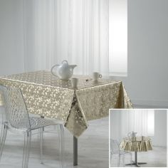 Luny PVC Tablecloth with Metallic Look - Gold
