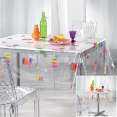 Macaroons Transparent PVC Tablecloth - Multi