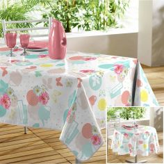 Tea Party PVC Floral Tablecloth - Multi