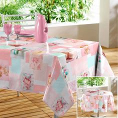 Delicia Macaroons Printed PVC Tablecloth - Pink
