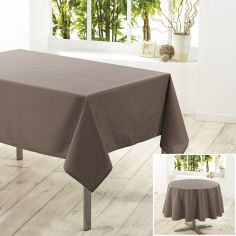 Essentiel Plain Tablecloth - Taupe