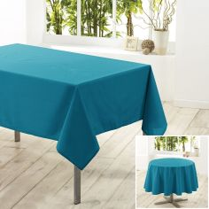Essentiel Plain Tablecloth - Teal Blue